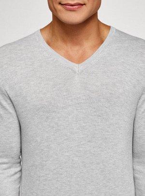 Пуловер удлиненный базовый