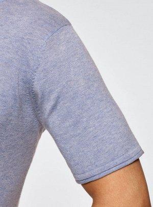 Джемпер базовый с коротким рукавом и круглым вырезом