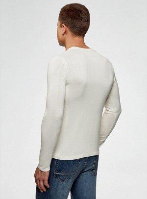 Джемпер прямого силуэта с вышивкой