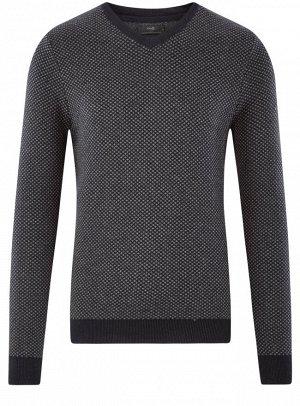 Пуловер с мелким жаккардовым узором