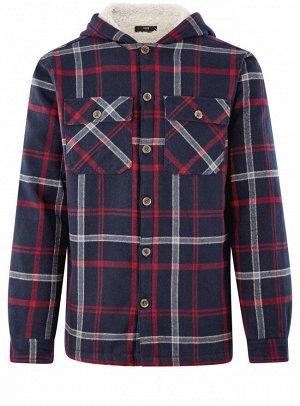 Рубашка утепленная с нагрудными карманами