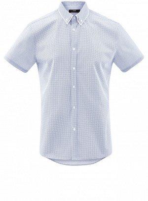Рубашка принтованная с двойным воротником