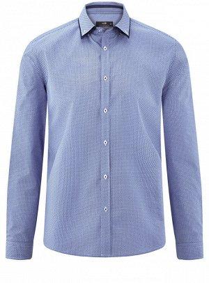 Рубашка хлопковая с контрастным воротником