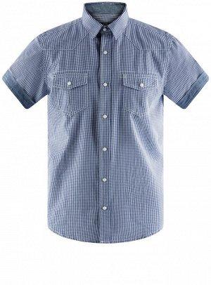 Рубашка с коротким рукавом и нагрудными карманами