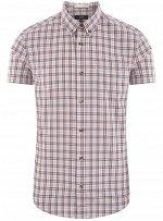 Рубашка приталенная с коротким рукавом