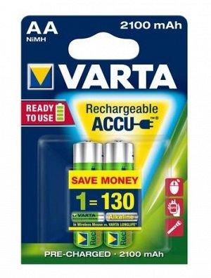Аккумулятор   Varta 56706.101.402 R6 2100mAh Ni-Mh R2U 2шт/бл