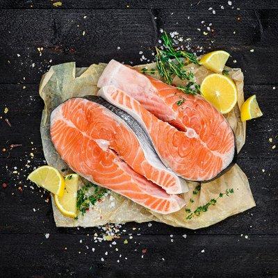 Дары моря: Стейки из рыбы🦐Форель 900г 766р! +Треска — Стейки из рыбы! — Мясо и рыба