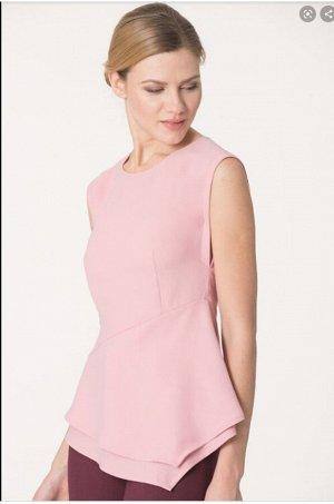 Блузка блуза топ  розовая на лето 44 р.