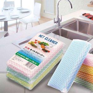 """""""Kitchen Series"""" Губка для мытья посуды в сеточке, 3 шт"""