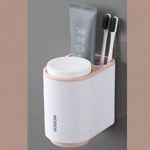 Подвесной органайзер для зубных щеток, белый/розовый