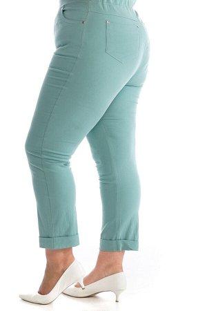 Брюки-2371 Модель брюк: Прямые; Материал: Хлопок стрейч;   Фасон: Брюки Брюки джинса с отворотом фисташка Брюки-стрейч отлично подойдут для повседневного гардероба. Модель хорошо сидит за счет комфорт