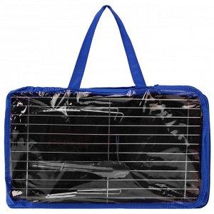Мангал-барбекю, щипцы, опахало, в сумке, МИКС