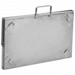Мангал-дипломат №2 400х250х400, нержавеющая сталь 1,5 мм, с шампурами, в сумке