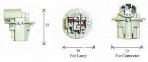 Разъем для лампы дополнительного освещения T20 W3x16d  C1881C