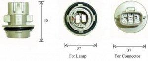 Разъем для лампы дополнительного освещения S25 BA15s  C4531C