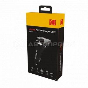 Комплект громкой связи KODAK UC111 (дисплей, FM-трансмиттер, плейлист, ответ на звонок, Bluetooth)