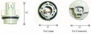 Разъем для лампы дополнительного освещения S25 BA15s  C4571B