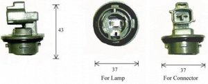 Разъем для лампы дополнительного освещения S25 BA15s  C4571D