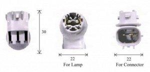 Разъем для лампы дополнительного освещения T10 and T16 W2,1x9,5d  C1583C