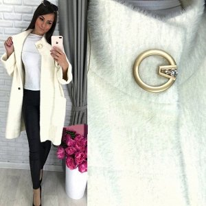 Пальто Красивое пальто из пушистой мериносовой шерсти Альпака, мягкое, пушистое на ощупь станет любимым пальто в Вашем гардеробе