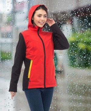 Куртка женская софтшелл Тайм с капюшоном
