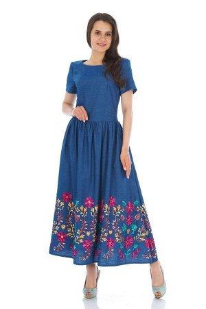 Платье БАГРЯНИЦА Артикул: 3001 синий