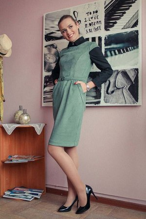 Сарафан Arisha Артикул: 1222 серо-зеленый