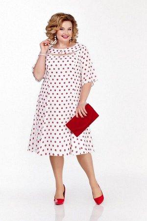 Платье Pretty Артикул: 1125 белый-красный