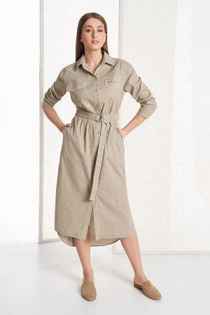 Платье Rami Артикул: 5050 золотистый_хаки