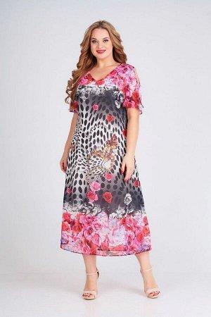 Платье Ксения Стиль Артикул: 1758 розовый