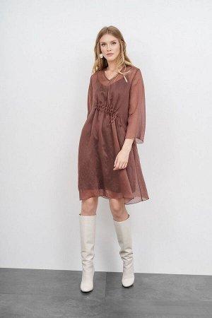Платье KIARA Collection Артикул: 7936 коричневый_бронз