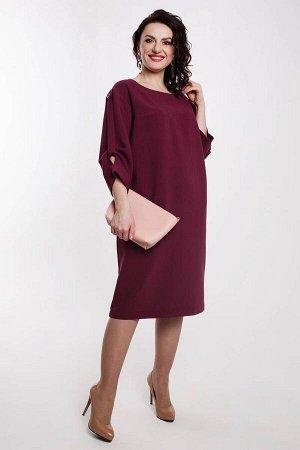 Платье Дорофея Артикул: 573 темно-бордовый