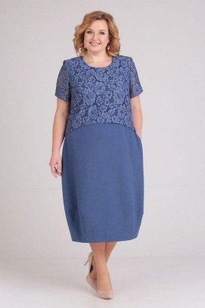 Платье ELGA Артикул: 01-594 синий