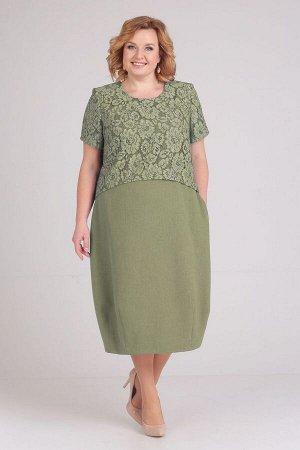 Платье ELGA Артикул: 01-594 олива