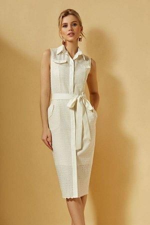 Платье DiLiaFashion Артикул: 0359 кремовый