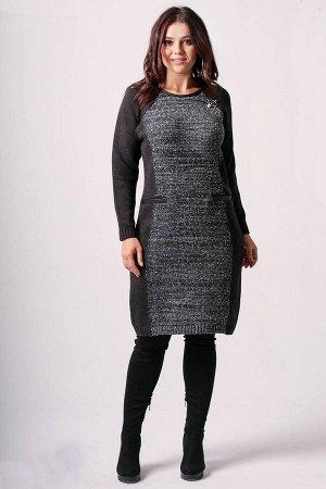 Платье Bonadi Артикул: 1224-2 антрацит