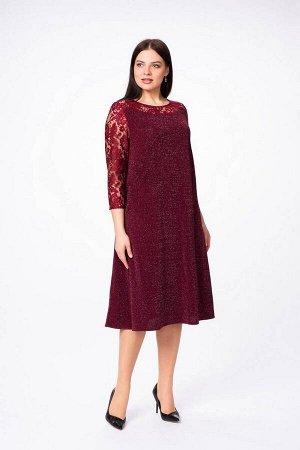 Платье Stilville Артикул: 19С1696 бордо