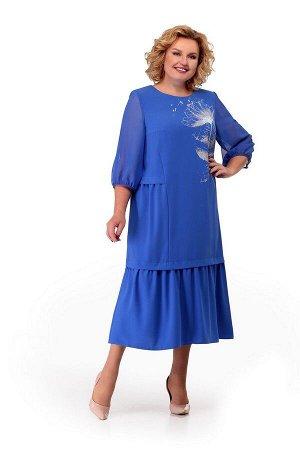 Платье Мишель стиль Артикул: 882 голубой