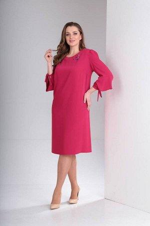 Платье, брошь TVIN Артикул: л012 малина