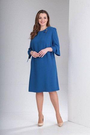 Платье, брошь TVIN Артикул: л012 кобальт