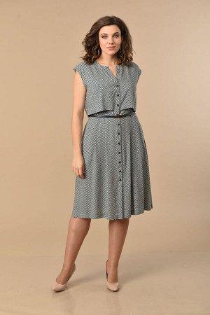 Платье Lady Style Classic Артикул: 1134/1 синий-оливка