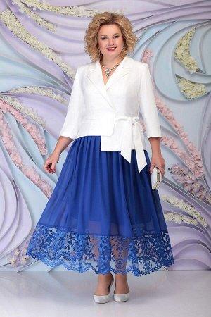 Жакет, юбка Ninele 5794 василек