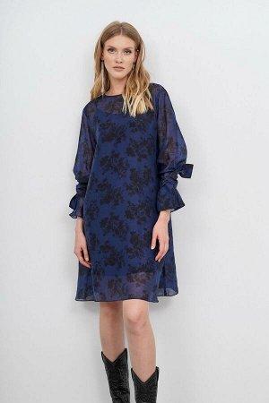 Платье KIARA Collection Артикул: 7904 чёрный/синий