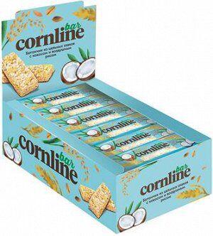 Батончик Cornline из цельных злаков с кокосом и воздушным рисом, 30 г (упаковка 18 шт.)