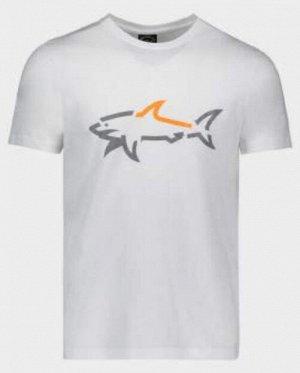 ФУТБОЛКА Paul&Shark с принтом в виде акулы