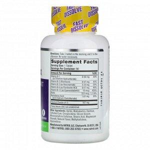 Natrol, Комплекс витаминов группы B, быстрорастворимые, натуральный кокосовый вкус, 90 таблеток