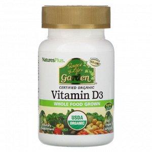Nature&#x27 - s Plus, Source of Life, Garden, витамин D3, 60 веганских капсул