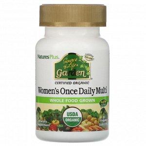 Nature&#x27 - s Plus, Source of Life Garden, мультивитамины для женщин для приема один раз в день, 30 веганских таблеток