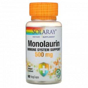 Solaray, Монолаурин, 500 мг, 60 вегетарианских капсул