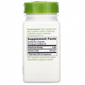 Nature&#x27 - s Way, Rosemary Leaf, 700 mg, 100 Vegan Capsules